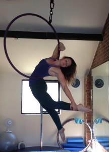 aerial hoop move