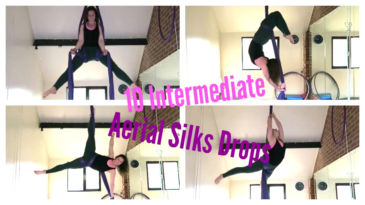 10 Aerial Silks Intermediate Drops