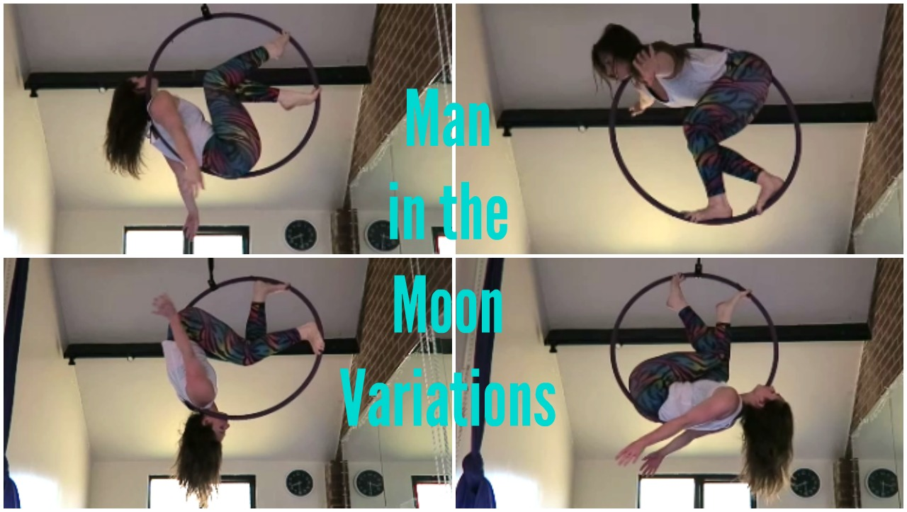 Aerial Hoop Man in the Moon Variations