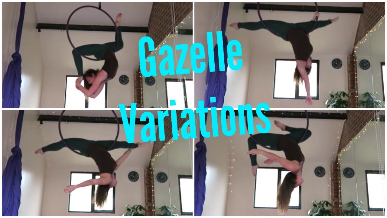 9 Aerial Hoop Gazelle Variations
