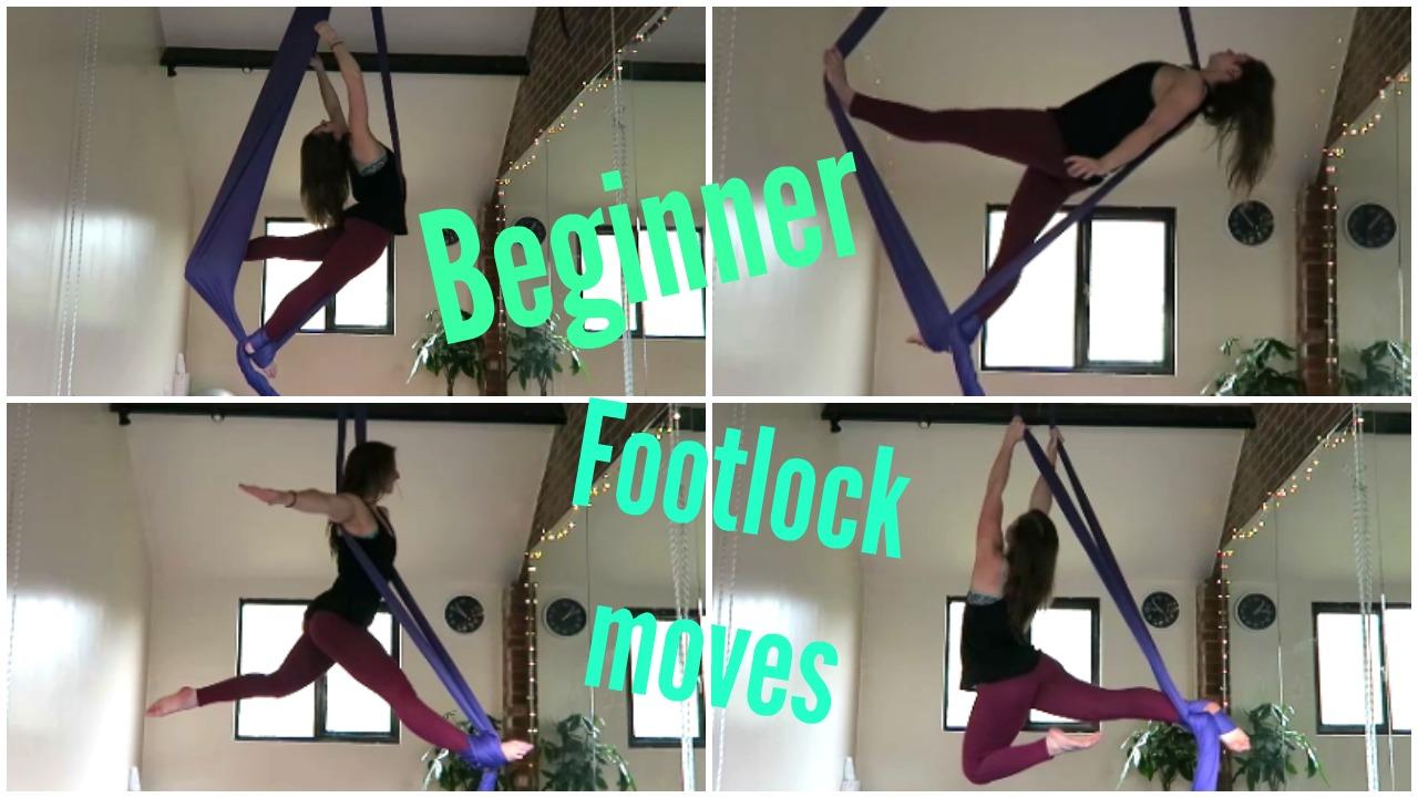 9 Beginner Footlock Moves on the Aerial Silks