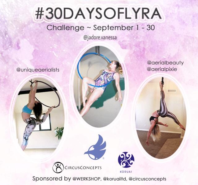 #30daysoflyra Aerial Hoop Challenge