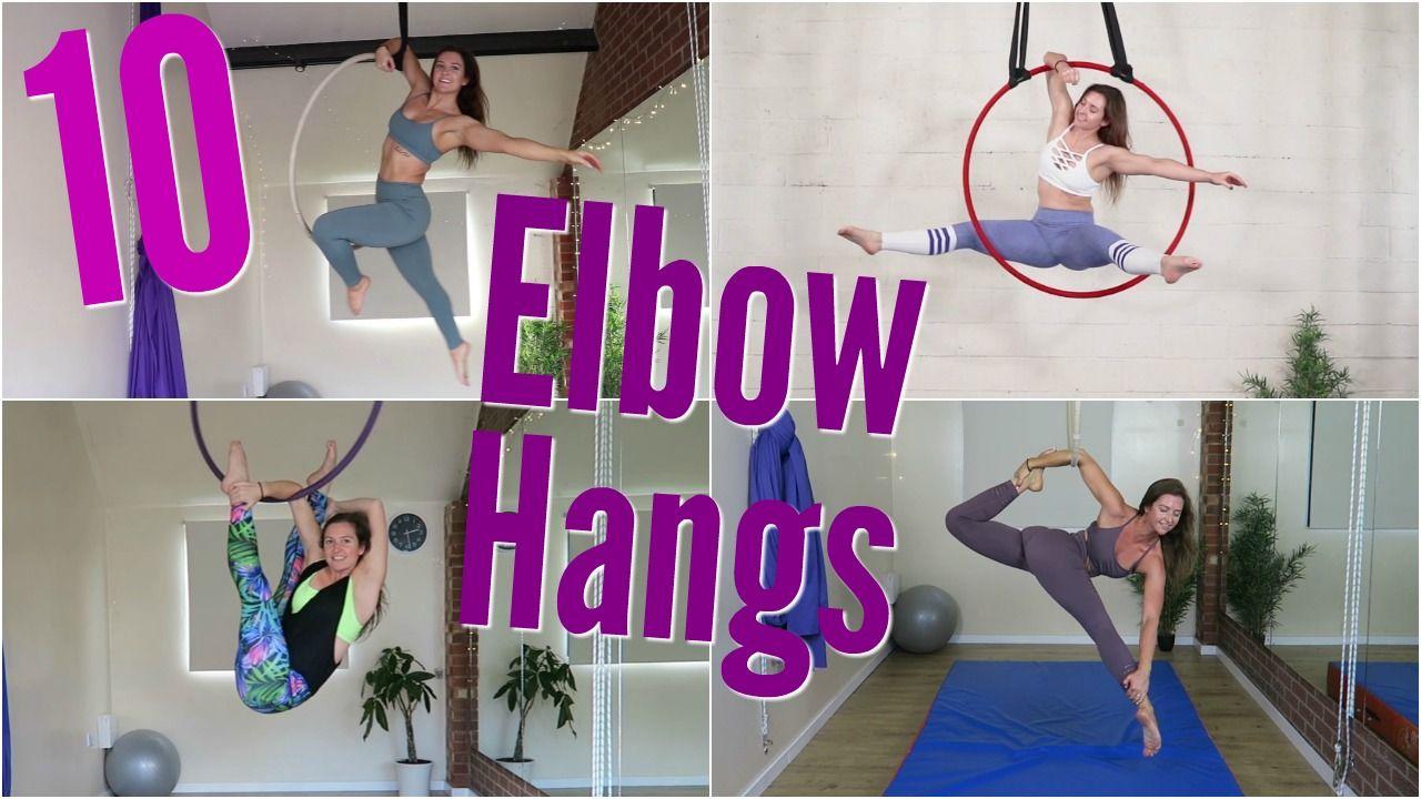 10 Aerial Hoop Elbow Hangs